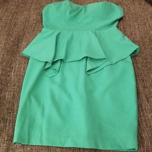 Arden B. strapless teal-y color dress!!!